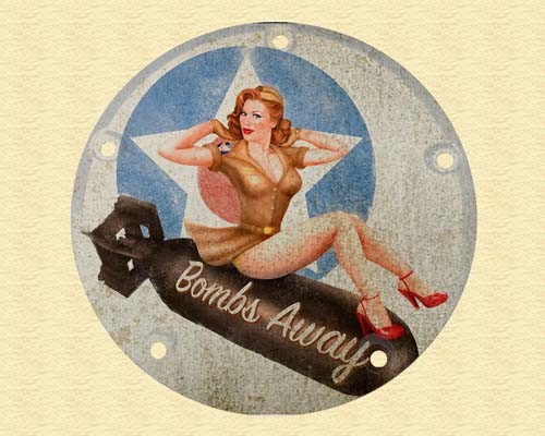 Harley Davidson Custom Derby Cover - Bomber Pin Up2