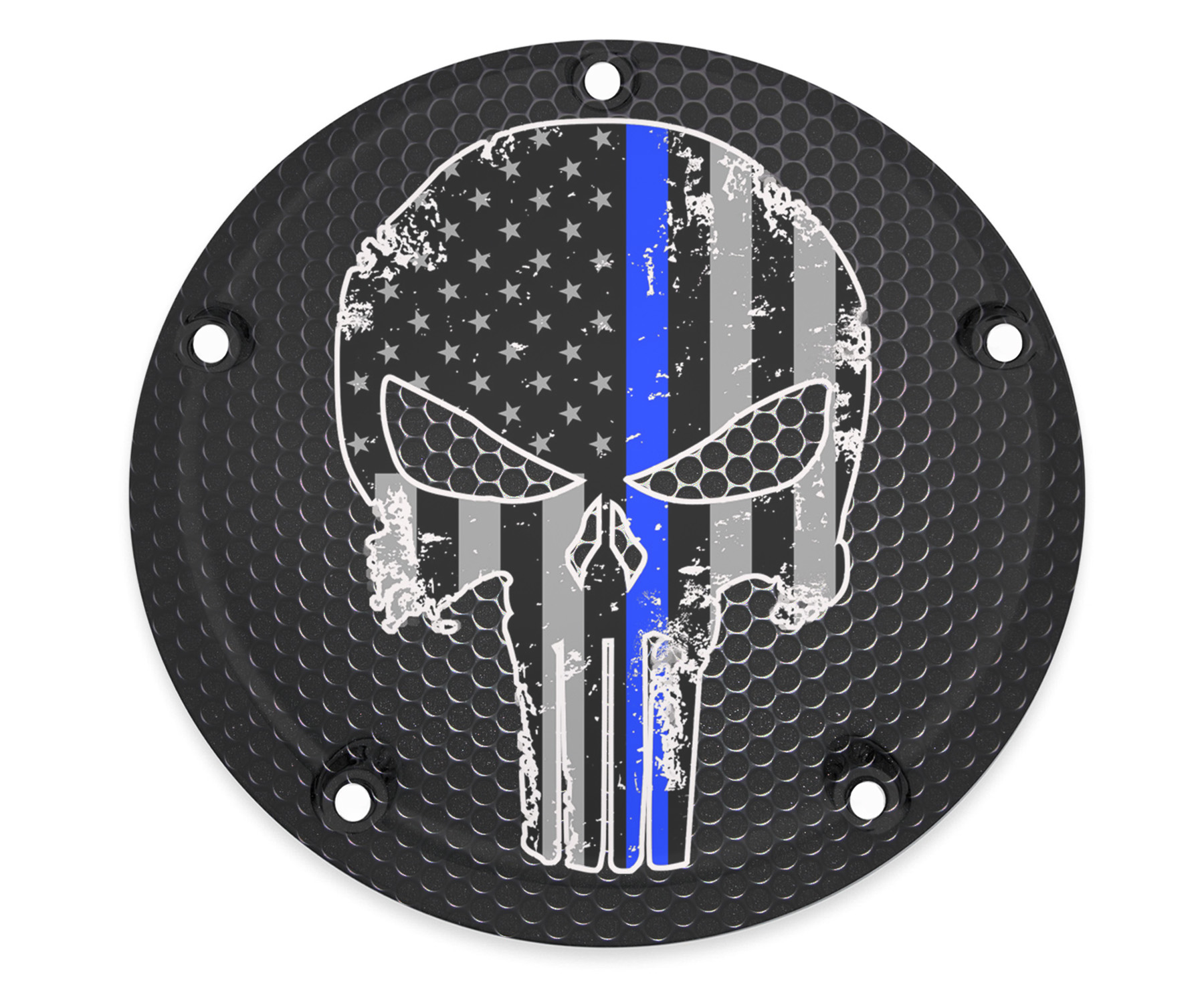 HARLEY DAVIDSON DERBY COVER- THIN BLUE LINE 2