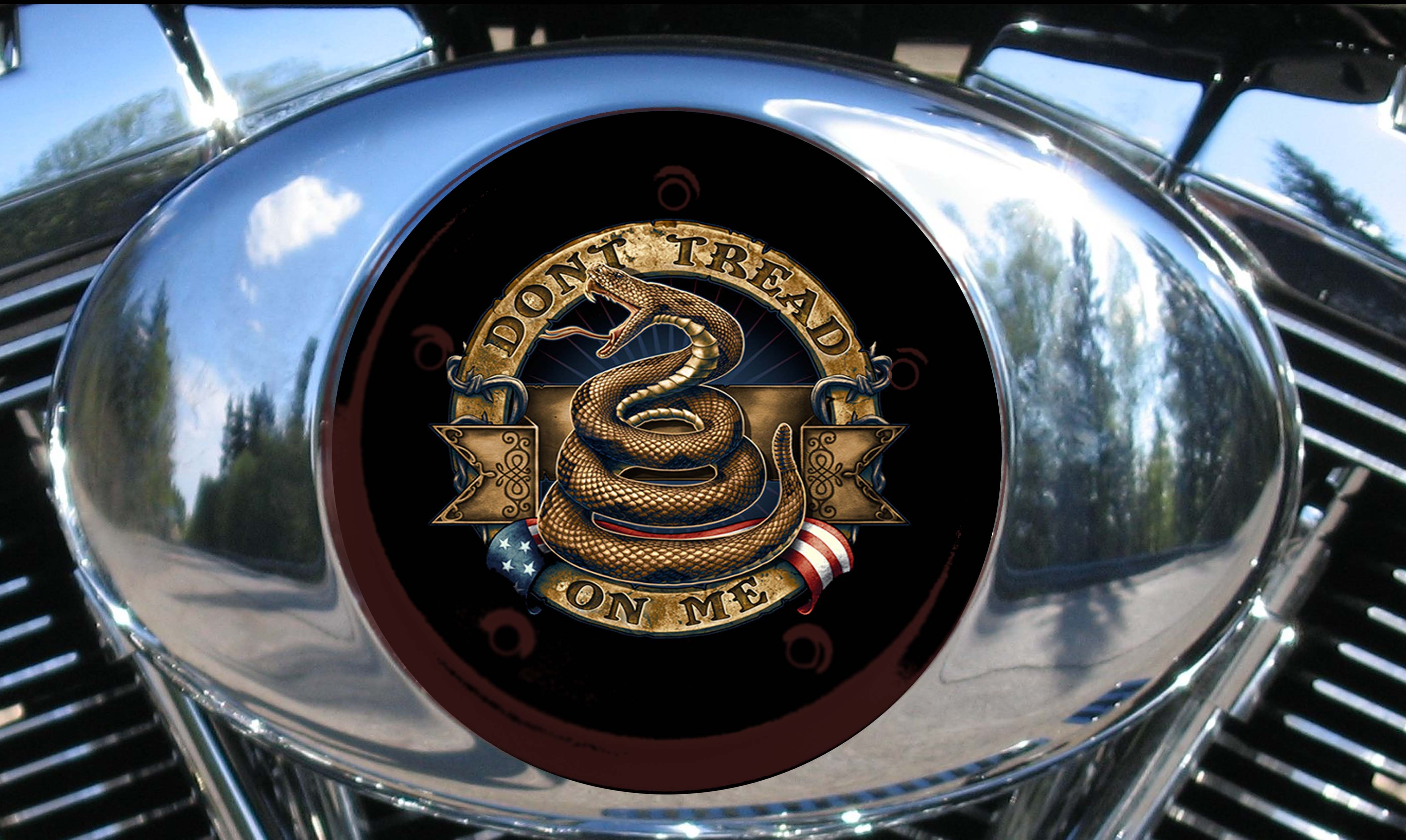 Harley Air Cleaner Cover - DON'T TREAD ON ME