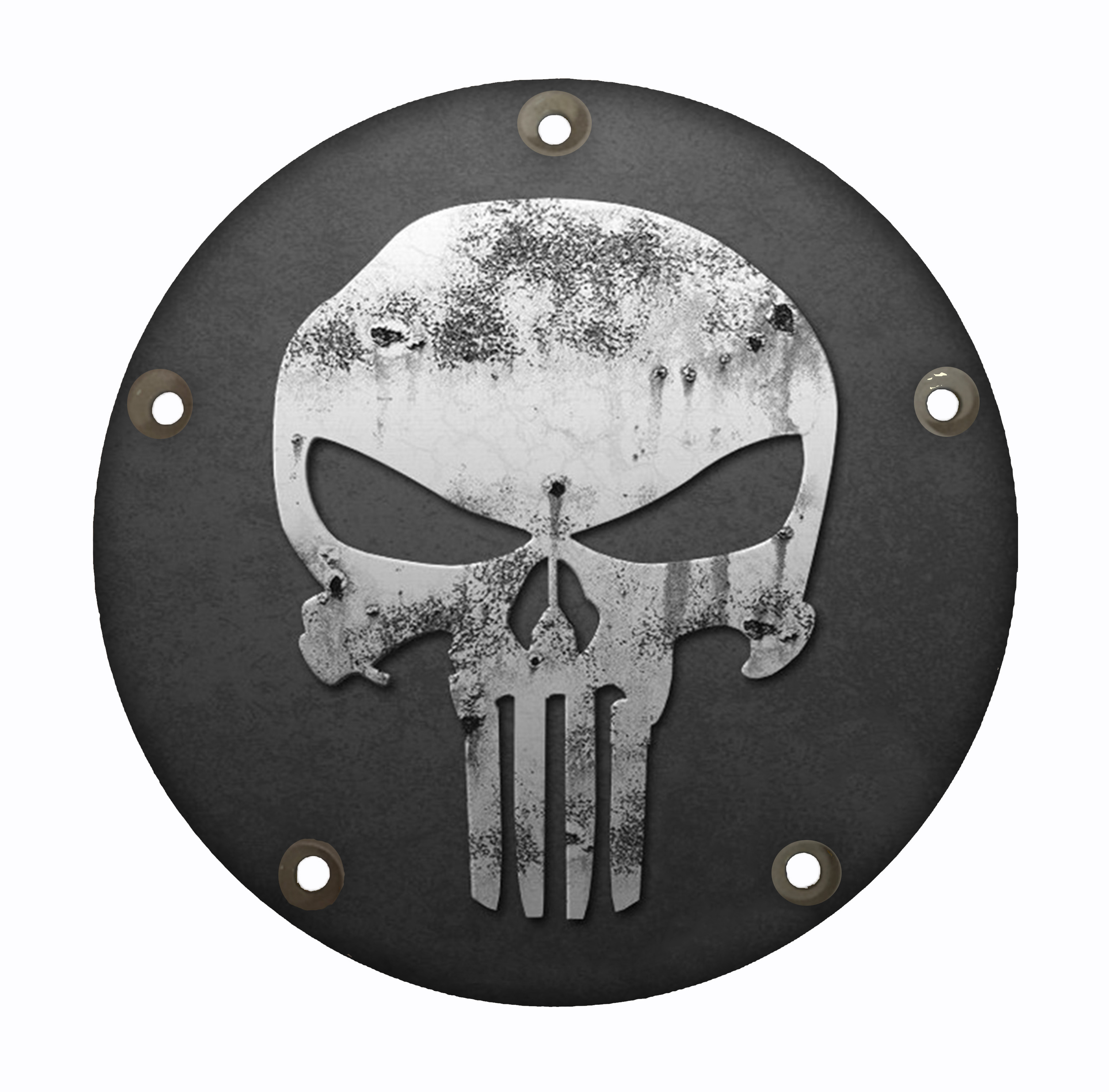 Custom Harley Davidson Timing Cover Gray Punisher