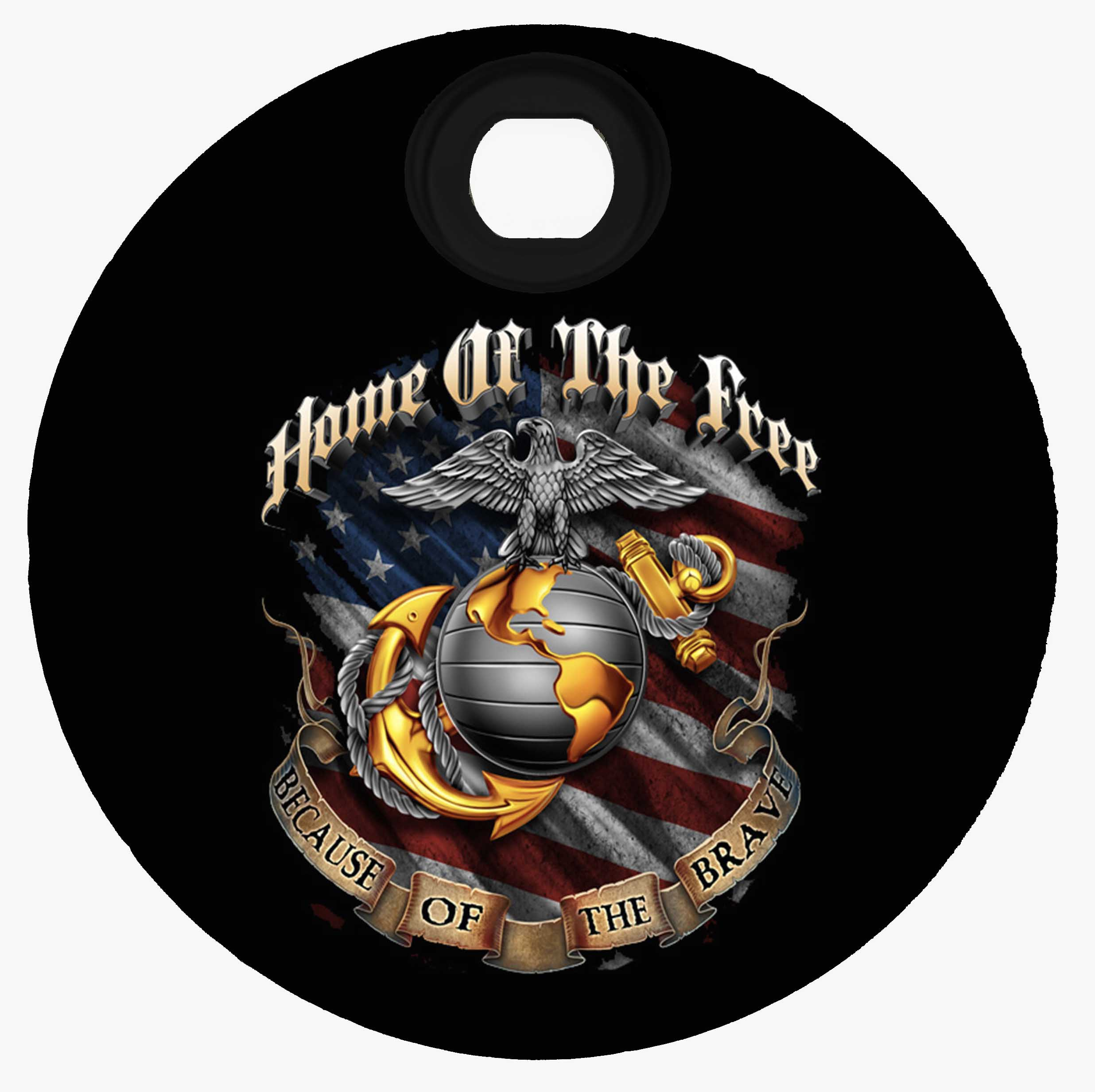 Harley Davidson Custom Fuel Door - Home of the Free 2 Marines