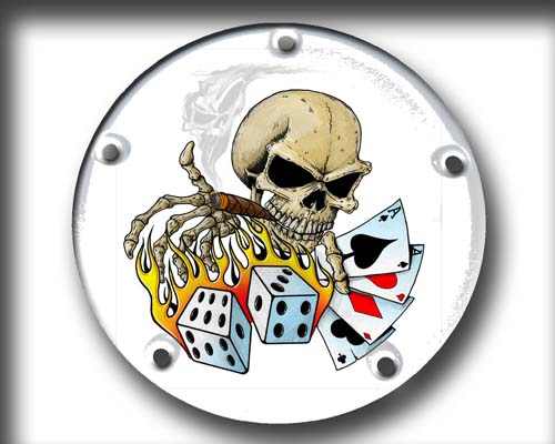 Harley Davidson Timing Cover - Scull Gambler