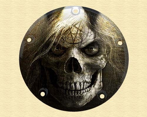 Harley Davidson Timing Cover - Scull with Hair