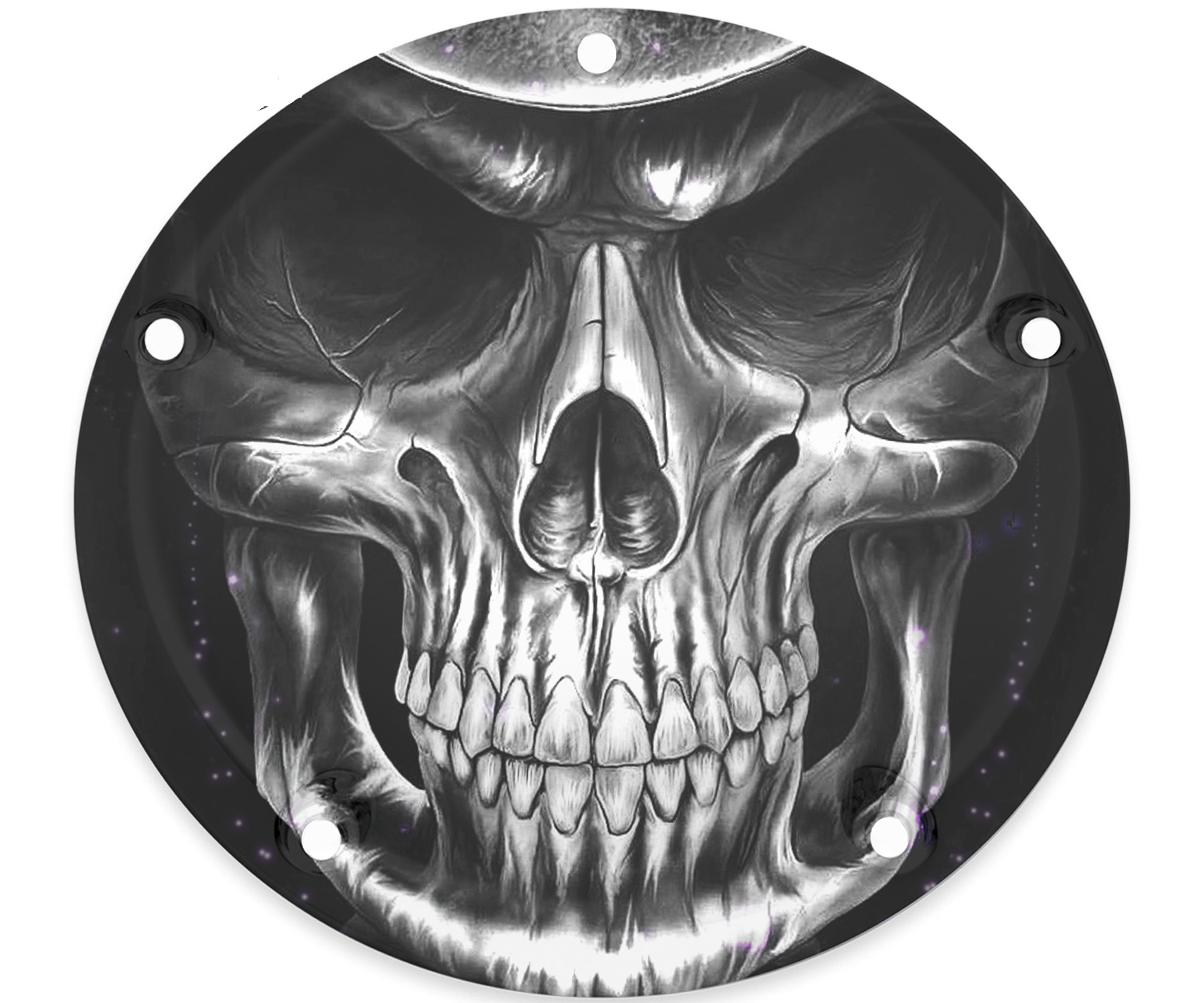 Custom Harley Davidson Timing Cover Blk & Wht Reaper