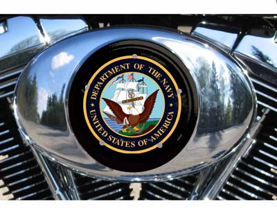 Harley Air Cleaner Cover - dept of Navy logo